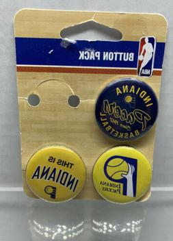 Indiana Pacers NBA Team Logo 3 Pin Button Pack