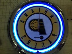 indiana pacers neon clock in blue nba