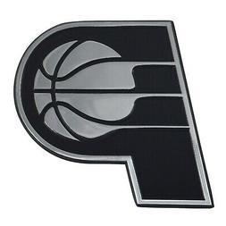 Indiana Pacers Premium Solid Metal Chrome Auto Emblem Raised