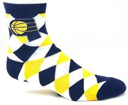 indiana pacers quarter socks white yellow navy