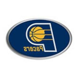 Indiana Pacers Raised Metal Oval Color PV Chrome Auto Emblem