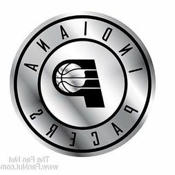 Indiana Pacers Silver Chrome Colored Raised Auto Emblem Deca