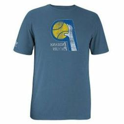 Indiana Pacers Throwback Logo Adidas Slim Fit Blue T Shirt