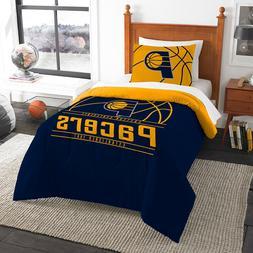 "Indiana Pacers Twin Comforter Sham Set ""Reverse Slam"" OFFICI"
