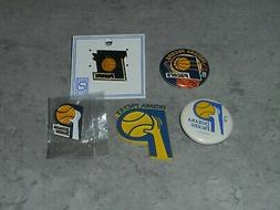 INDIANA PACERS Vtg NBA RUBBER Basketball MAGNET Button Pin L