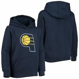 Indiana Pacers Youth Primary Logo Fleece Pullover Hoodie - N