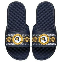 Indiana Pacers ISlide Youth Ugly Sweater Slide Sandals - Nav