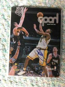 Jalen Rose Signed Indiana Pacers Hoop Magazine Autographed