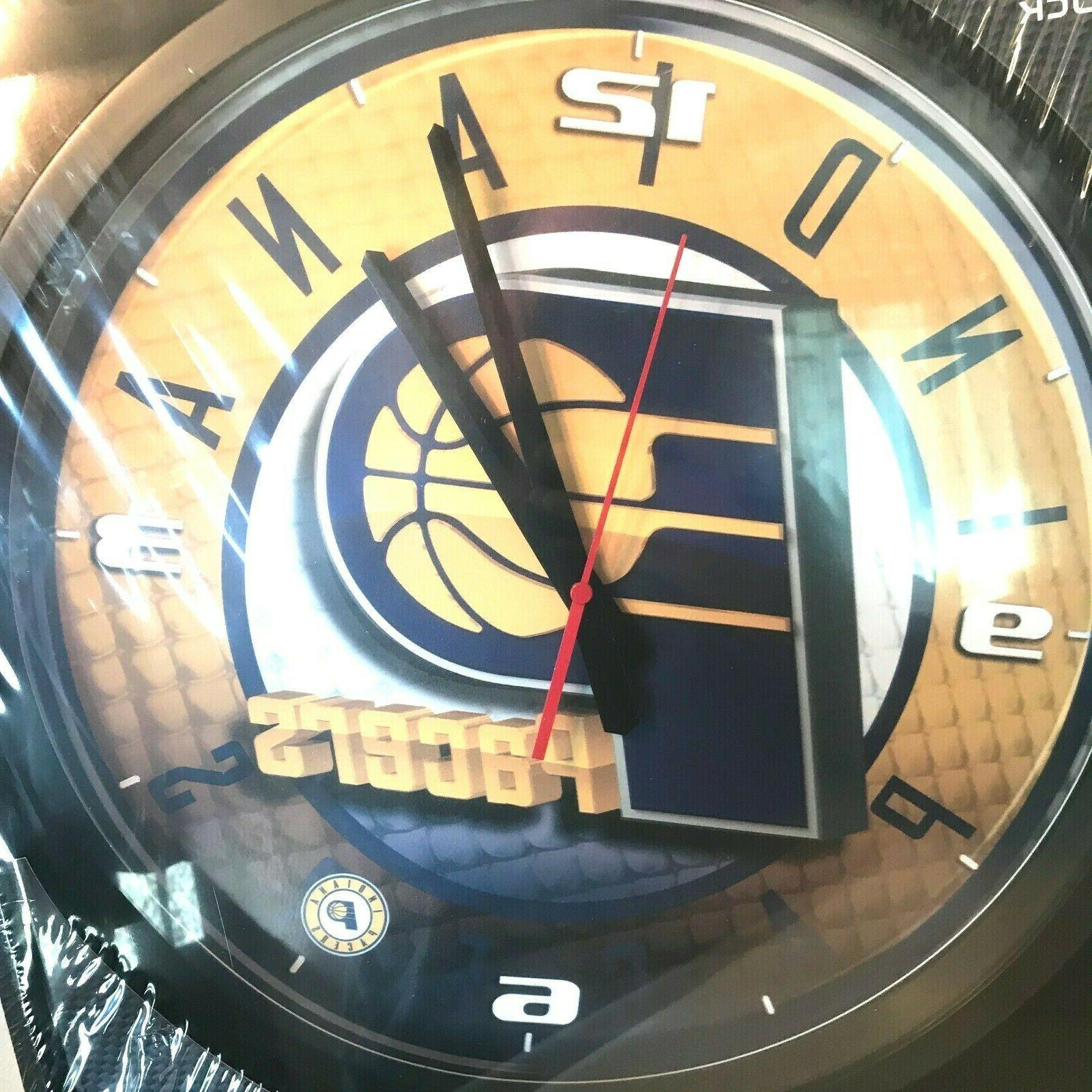 HUNTER Pacers Wall Clock & Frame NEW