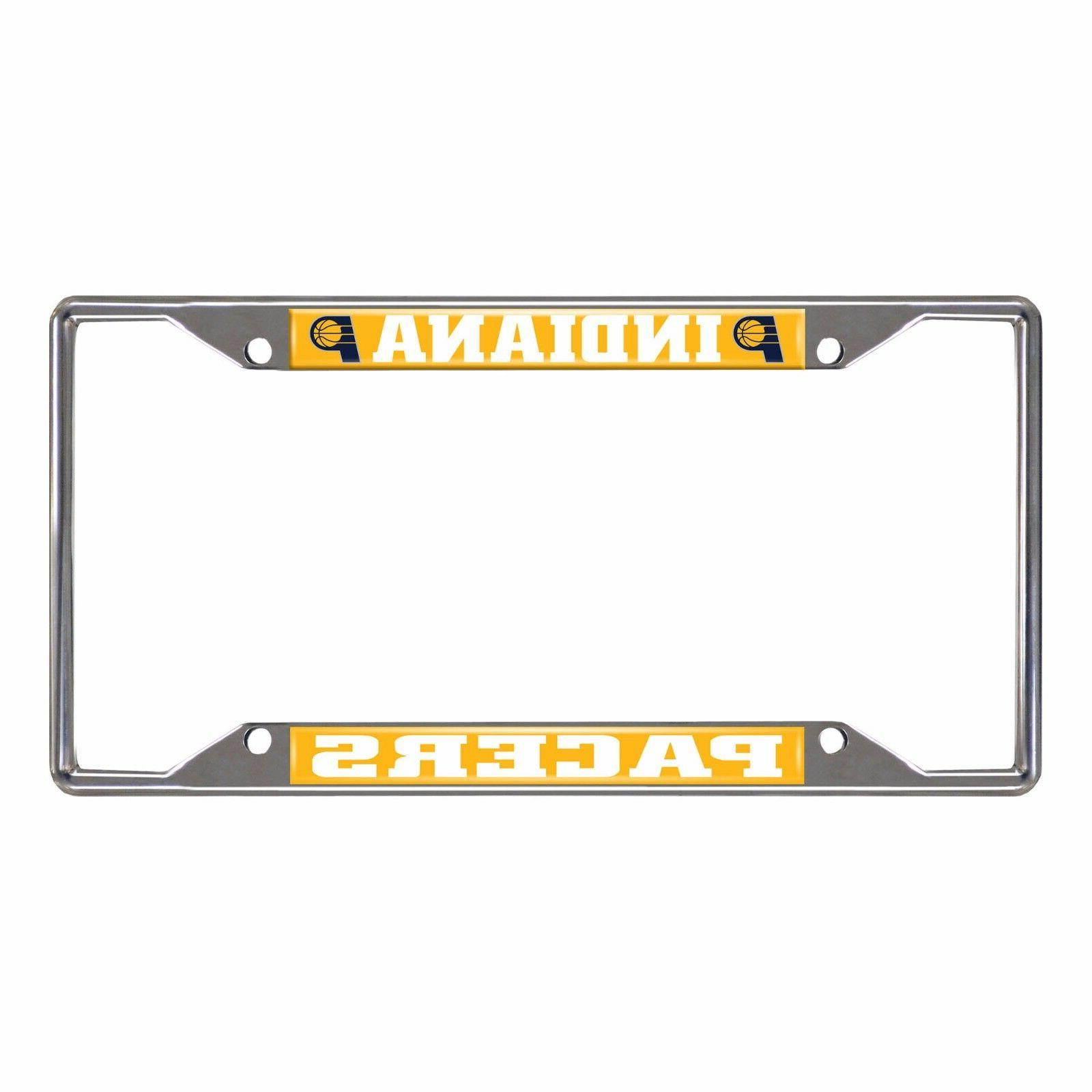 Indiana Pacers EZ View Chrome Metal License Plate Frame