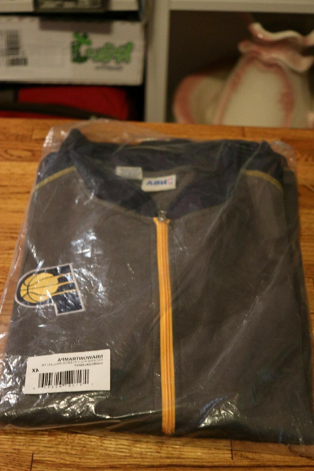 indiana pacers official basketball fleece zipper jacket