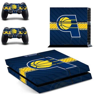 Indiana Pacers PS4 Skin Sticker Decal Vinyl Console+2 contro