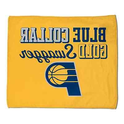 indiana pacers rally towel blue collar gold
