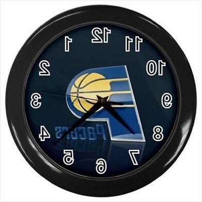 indiana pacers wall clock black nba basketball