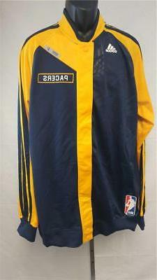 New Indiana Pacers Mens XL+4 On Court Pre Game Player Jacket