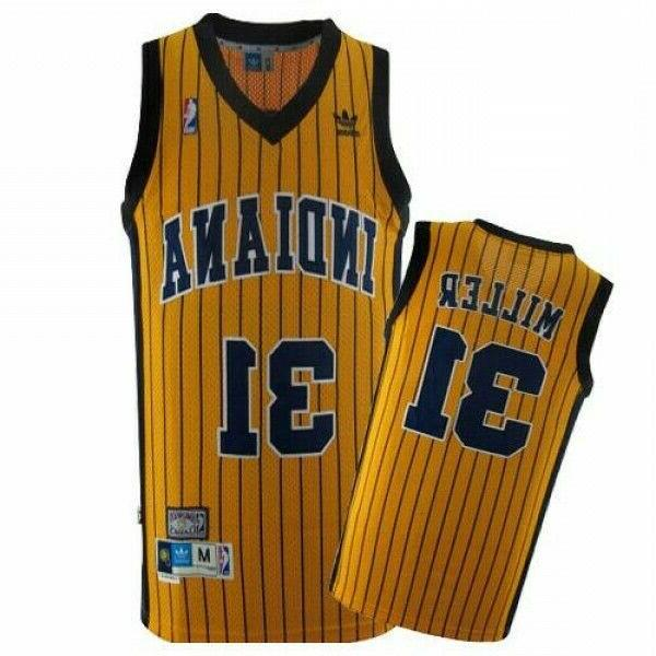 reggie miller 31 indiana pacers yellowclassic throwback