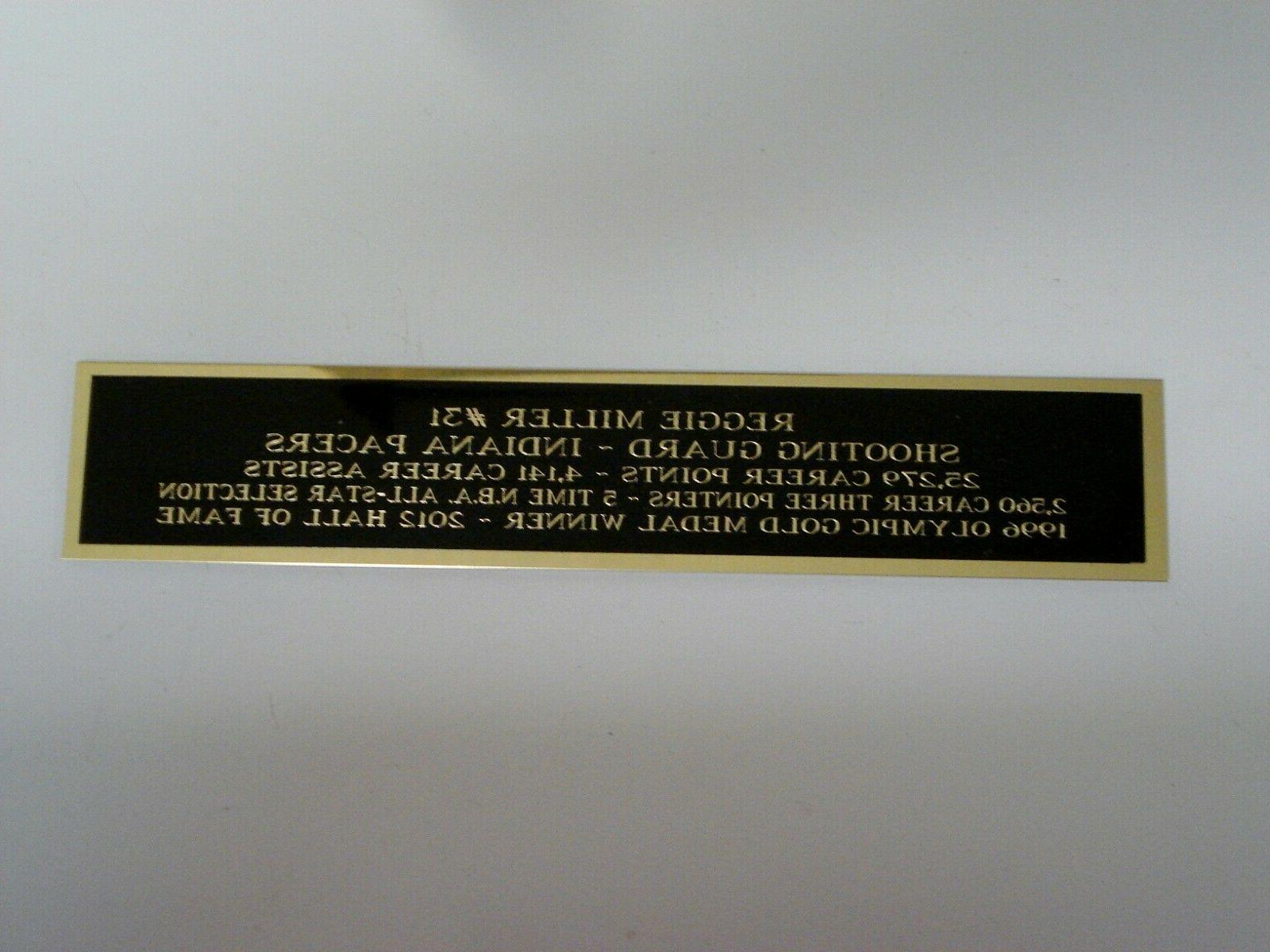 reggie miller pacers nameplate for a basketball