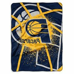 Licensed NBA Indiana Pacers Basketball Royal Plush Twin Size
