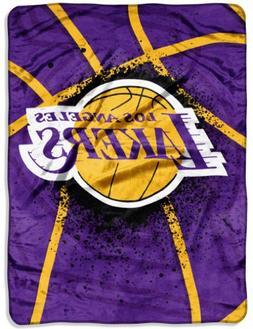 Los Angeles Lakers 60x80 Royal Plush Raschel Throw Blanket -