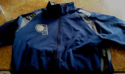 MEN'S INDIANAPOLIS PACERS JACKET/COAT FROM MAJESTIC/ NAVY. N