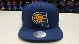 Mitchell & Ness NBA Indiana Pacers Team Logo Solid Navy Snap