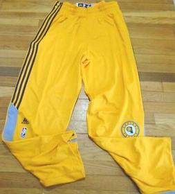 ADIDAS NBA AUTHENTIC INDIANA PACERS BLUE ON COURT PANTS BUTT