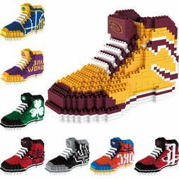 NBA Basketball 3D BRXLZ Team Sneaker Logo Puzzle Constructio