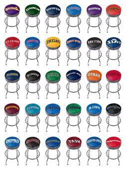 nba chrome ribbed bar stool fade basket