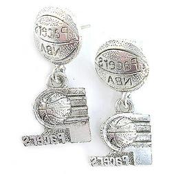 NBA Earrings Indiana Pacers Decorative Silver Jewelry