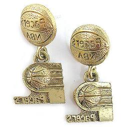 NBA Earrings Indiana Pacers Gold Jewelry NEW