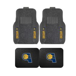 NBA Indiana Pacers 2-Pc & 4-Pc Deluxe Floor Car Truck Mat Se