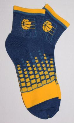 NBA Indiana Pacers Digital Squares Ankle Socks M