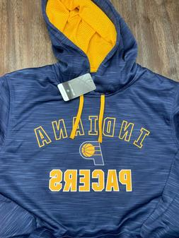 Majestic NBA Indiana Pacers TX3 WARM Blue & Yellow Hoodie Sw