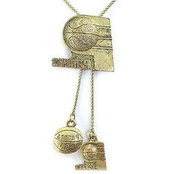 NBA Necklace Indiana Pacers Gold Jewelry