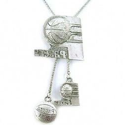 NBA Necklace Indiana Pacers Silver Jewelry