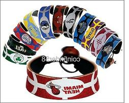 NBA Team Color Leather Basketball Bracelet - Pick Team