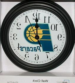 """NEW - INDIANA PACERS CLOCK 8 1/2"""" IN DIAMETER-QUALITY-NBA BA"""
