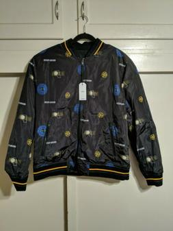 new indiana pacers nba reversible bomber jacket
