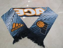 NEW Indiana Pacers Adidas Reversible Scarf Blue Yellow