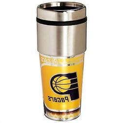 Pacers Travel Tumbler 16 oz Stainless Steel mug Plastic Inse