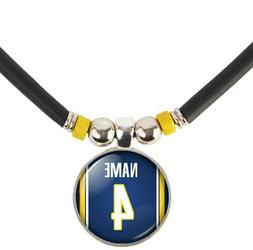 Personalized Indiana Pacers Jersey Necklace with Name and Nu