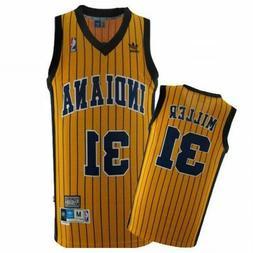 Reggie Miller #31 Indiana Pacers YellowClassic Throwback Swi