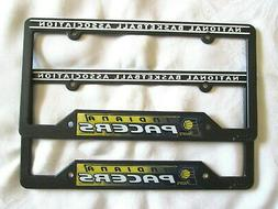 TWO  INDIANA PACERS LICENSE PLATE FRAMES #8 - NEW
