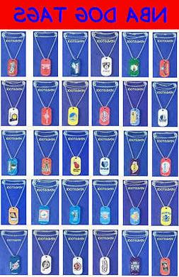 TWO NEW NBA LICENSED BASKETBALL METAL DOG TAG NECKLACE + FRE