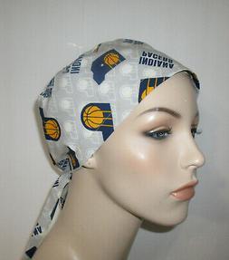 Unisex  Indiana Pacers Scrub Cap Chemo Hat Nurses Women Scru